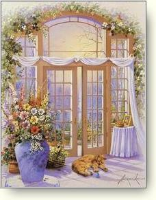 french door floral About